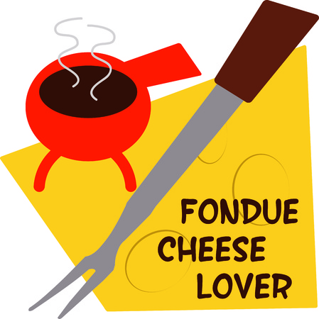 melted cheese: Love fondue  Heres a perfect design for you  Add to napkins for an interesting table setting.
