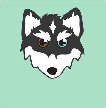 �siberian husky�: Cute siberian husky illustration  Illustration