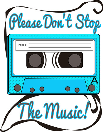 compact cassette:  Cassette tape illustration  Illustration