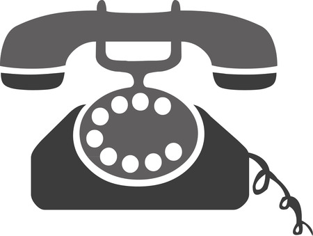 old telephone:   Old telephone illustration isolated in white