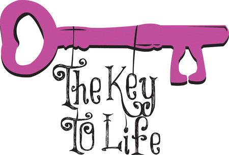 get across: This traditional key is symbolic for so many things.  Get your message across with this lovely pink key.