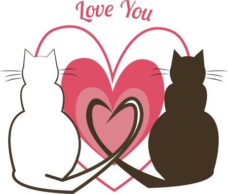 feline: Feline love is expressed with most unexpected hearts  Create a purrrfect Valentine for your favorite cat lover.