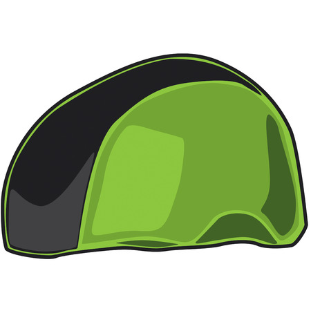 derby hats: Roller derby time  Heres a sporty green helmet for your star player. Illustration
