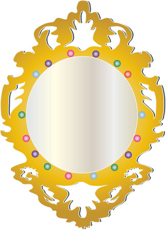 jeweled: What a beautiful mirror  Our jeweled mirror is a stunning addition to your projects.