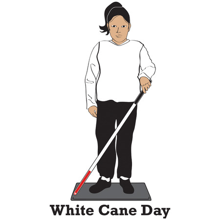 impairment: White Cane generates awareness for those with visual impairment.  Create awareness with your own unique awareness items.  .