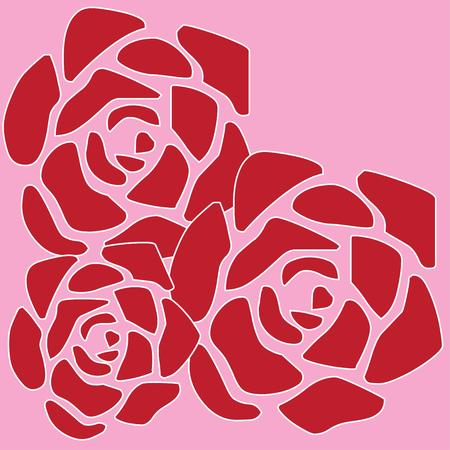 grower: Heres the perfect design for a garden flag for a rose grower.  The abstract petals create stunning blooms.