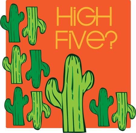 desert cactus: This humorous creation featuring desert cactus is such fun.  We love it on a garden flag.