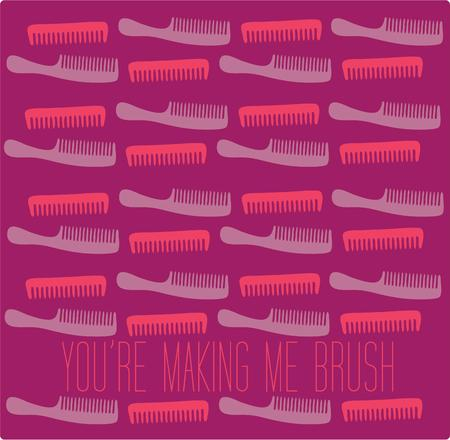 haircare: A collection of pink and purple combs creates a lovely visual array.  Have you ever seen a better design for a stylist apron