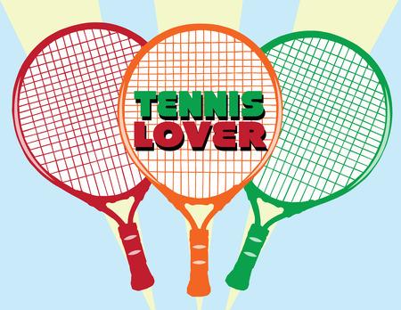 racquetball: Un tr�o de raquetas de tenis de colores brillantes toma la m�s sencilla de las camisas en un polo de tenis incre�ble. Excelente para la raqueta de tenis cubiertas demasiado