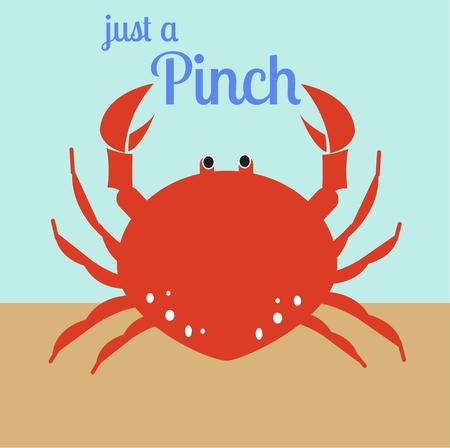 crabby: This bright red crustacean is a hit at mealtime.  Serve him up as a decoration on your table linens to create a lovely table.