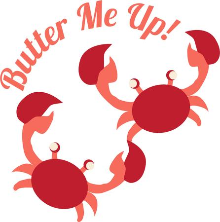 crabby: These bright red crustacean is a hit at mealtime.  Serve him up as a decoration on your table linens to create a lovely table.