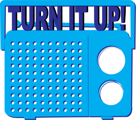 music machine: Turn up the volume with this colorful blue radio.  Makes a fun decoration for a party invitation.
