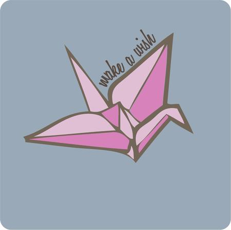 asian art: The Asian art of origami brings this elegant paper crane.  Add this crane to your decorating to create elegant pillows and towel embellishments.