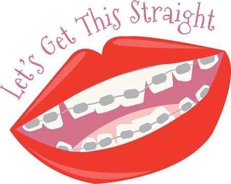 dental hygienist: Use this design for the dentist or orthodontist or even dental hygienist. Illustration