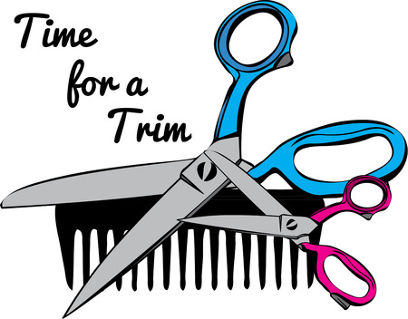 clippers comb: Scissors and a plastic comb are the stylist weapons of choice  Imagine these implements on your favorite stylests jacket.