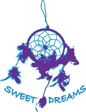 dulces sue�os: Atrapa todos tus dulces sue�os en este cazador de sue�os en la silueta. Los ricos en tradici�n y el estilo de nuestro cazador de sue�os es un hermoso adorno.