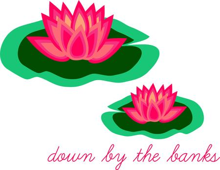 beauties: Lily pads add their exotic beauty to ponds and lakes.  Consider these floral beauties for your shirts and bags.
