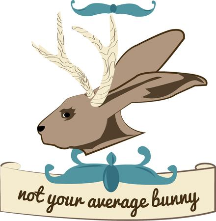 jackrabbit: Not your average bunny rabbit  This most unusual creature is sure to be a conversation starter wherever you choose to put it on display.  May we suggest a camo shirt