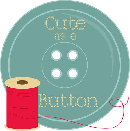 notion: Create a special sewing box thats cute as a button with this thread and button.  Sure to be a hit with any seamstress.