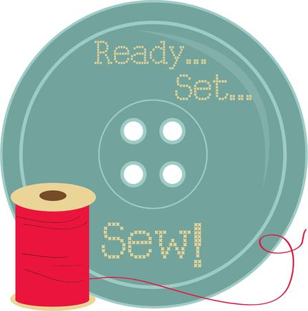 sewing box: Create a special sewing box thats cute as a button with this thread and button.  Sure to be a hit with any seamstress.