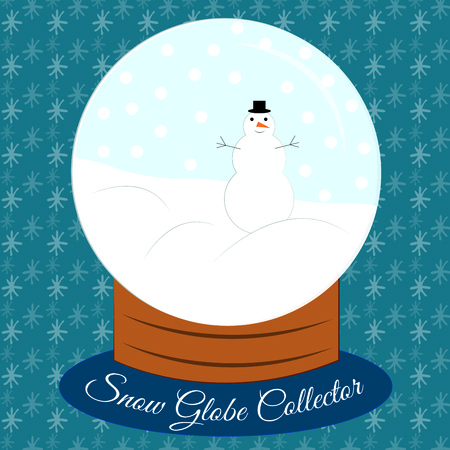 paperweight: A snow globe with a snow man inside  how perfect  Lovely or winter holiday decorations.