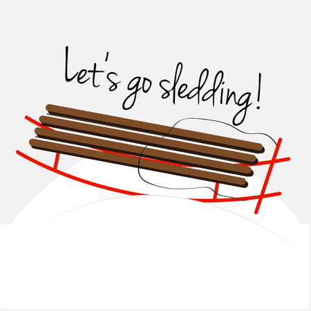 winter wonderland: Enjoy the winter wonderland on this wooden sled.  This sled is the perfect decoration for winter gear like hats and coats.