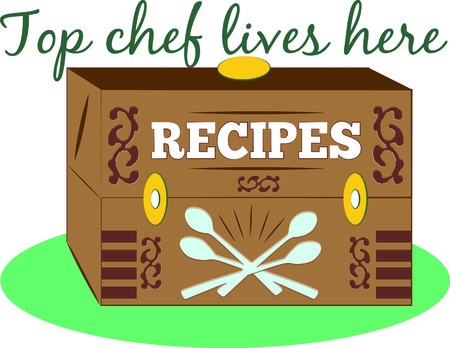 experienced: The biggest treasure from an experienced chef is their recipe box.  Create your own recipe box decorated with this vintage box design.