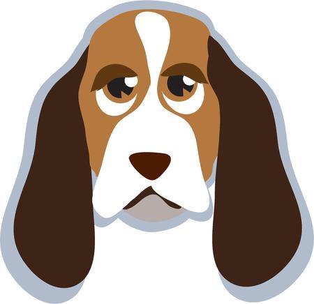 mutt: Uno sguardo a questo cucciolo felice e non resta che sorridere. Questo simpatico cane segugio � tutte le orecchie in attesa sul vostro comando. Lui � una decorazione perfetta sia per abbigliamento e arredamento.