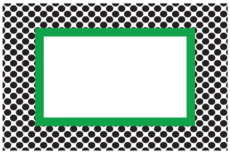 blacks: Polka dots are super trendy.  This combination of blacks and green come together to make the perfect display for a message in print. Illustration