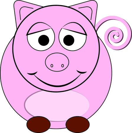 anything: Our happy pink pig is a sure sweetie  His happy face turns anything you create into an instant favorite