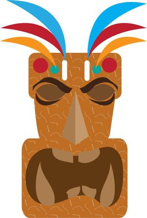 myth: This tiki figure in Polynesian myth is sometimes identified as the first man.  Add island charm with this unique design.  Great for travel companies.