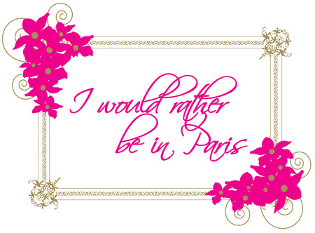 memorable: This beautiful floral and swirl frame outline memorable words.  Add your own text to make this design all the more lovely.
