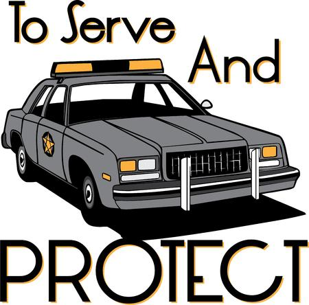 enforcement: Law enforcement to the rescue  Say thank you with a special creation for your local police.  Perfect jacket embellishment