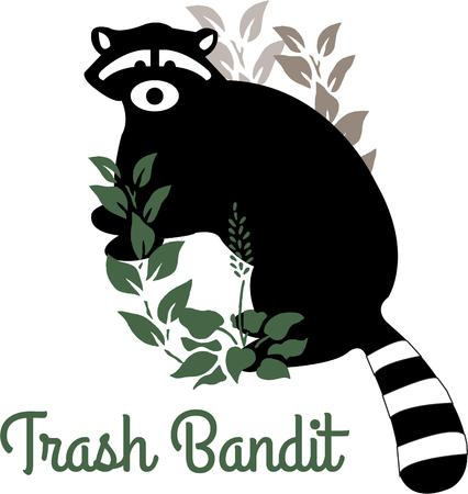 prowl: This little bandit is on the prowl in the garden.  The contrast between the black animal and the green leaves make this design a real stand out.  Lovely on decorative items like throw pillows