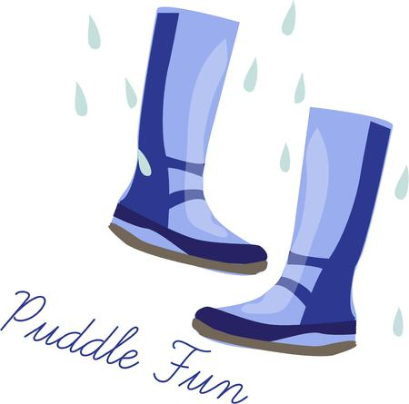 galoshes: Splash your way through Aprils showers in these stylish boots.  It is the perfect way to embellish a special raincoat or even an umbrella