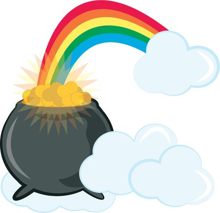 priceless: At the end of the beautiful rainbow lies a priceless treasure  the legendary pot of gold