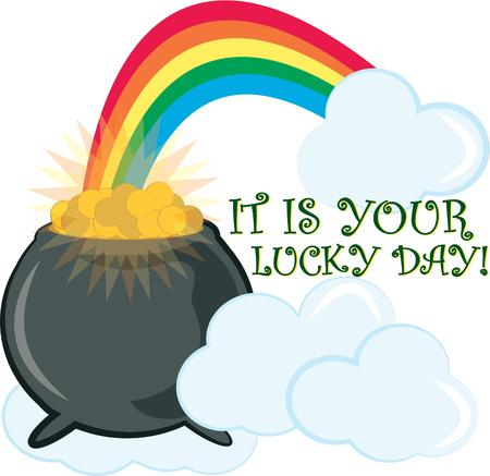 end of rainbow: At the end of the beautiful rainbow lies a priceless treasure  the legendary pot of gold