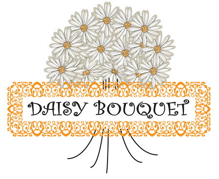 ours: A stunning bouquet of fresh daisies make a great statement.  Add your text or use ours to say it with flowers.