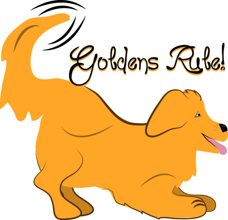 whelps: A golden retriever is a loyal friend and companion.  This puppy is an amazing way to decorate doggie gear.