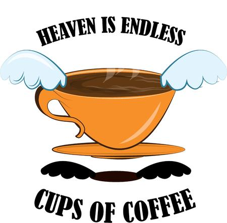 memorable: This design is a sure hit with all those coffee lovers  Make a heavenly kitchen towel or sublimate onto a coffee mug. Make something memorable