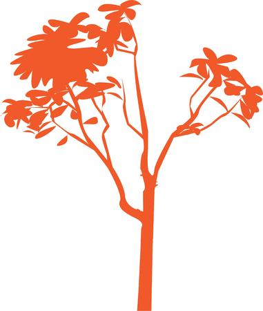 plante design: Cette conception de l'usine frappant est une belle fa�on de c�l�brer la nature. L'�l�gance d'une couleur est parfait pour cr�er un sac de chemise sp�ciale ou objet de d�coration.