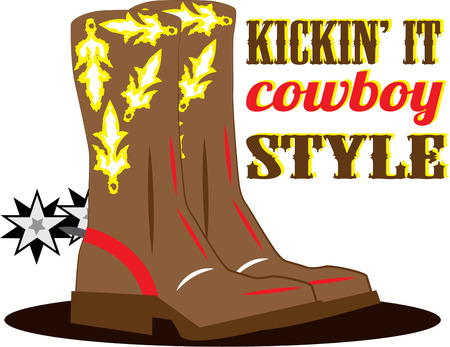persona: The cowboy persona is not complete without spurs and boots  Creating a western themed dcor  These boots are a must.