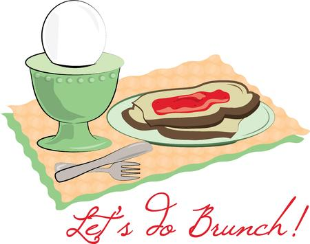 placemat: Breakfast is served - the most important meal of the day.  Add this tasty meal to a placemat set for your breakfast table.