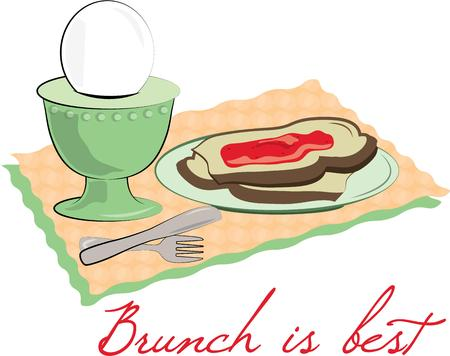 placemat: Breakfast is served  the most important meal of the day.  Add this tasty meal to a placemat set for your breakfast table.