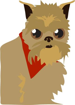 pooch: This spunky Brussels griffon is full of himself brimming with selfconfidence and gusto.  Not your typical dog to create the perfect gift for a special dog lover. Illustration