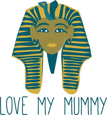 flair: Add the mask of the boy king to your creations for a unique Egyptian flair.