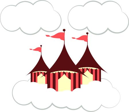 attract attention: These circus has come to town with its beautiful tents.  Flags flying in the clouds are sure to attract attention and make your creations extra memorable.  Love it on kid gear