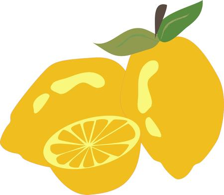 zest: Lemons add their unique zest to your baking and cooking.  Add this bright lemon design to tea towels or kitchen dcor for some extra zest. Illustration