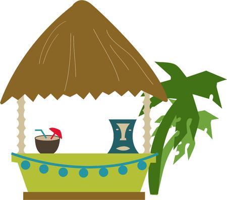 rinfreschi: Lasciate alle spalle le preoccupazioni andiamo per una festa sull'isola. Utilizzare questo totalmente delizioso disegno per creare la vostra attrezzatura isola