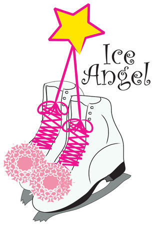 laced: Pink laced ice skates are fit for a princess  Create an amazing sweater for your little skater decorated with these treasures
